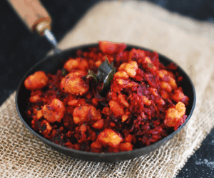 Beetroot Lentil Crumble (Beetroot Parupu Usili)
