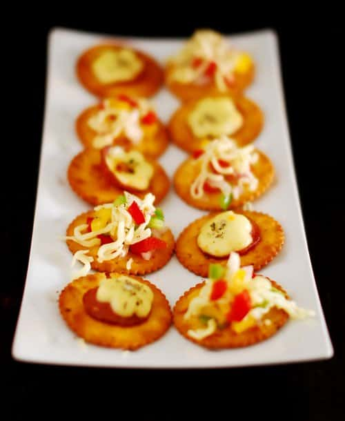 Veg and non veg canapes easy appetiser recipe idea for Simple canape appetizer