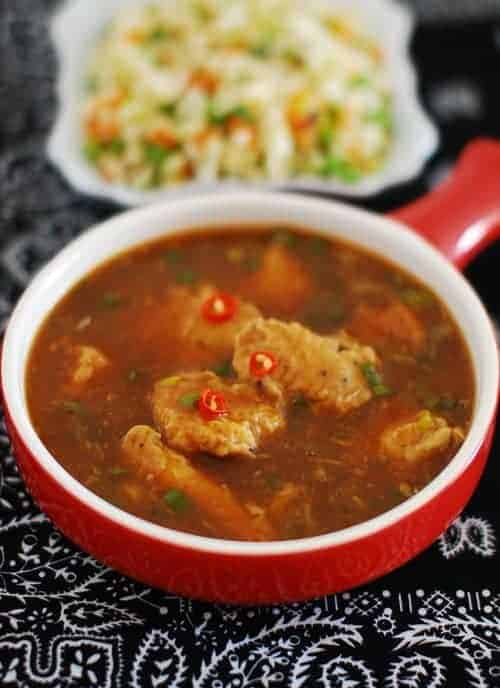 indo chinese chicken soup recipe