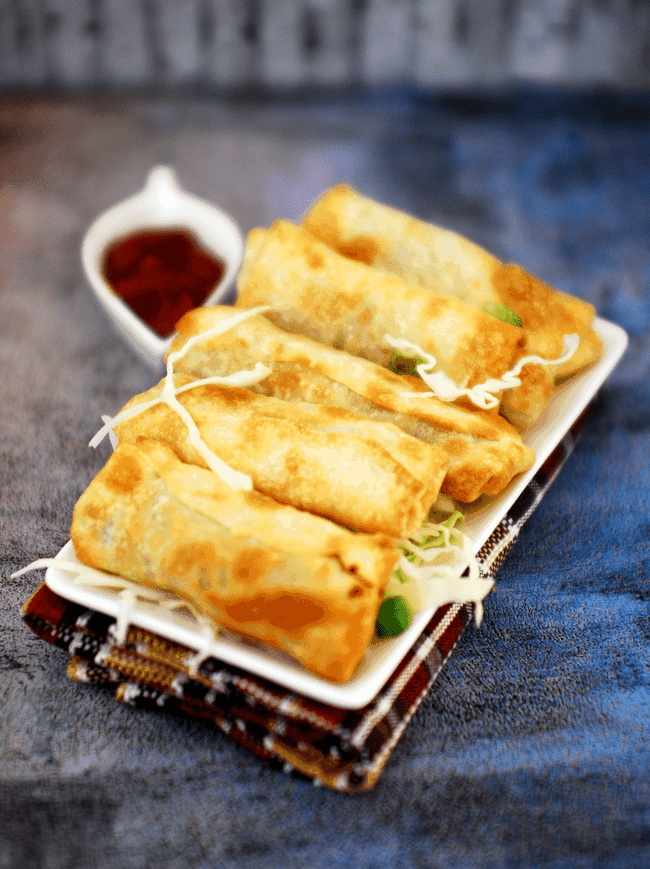 Chinese Chicken Spring Rolls Recipe With Step By Pictures