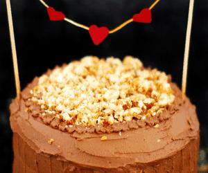 Choc Nutella hazelnut cake