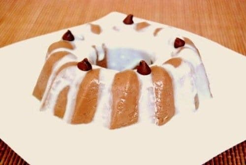 Eggless Chocolate Pudding with Vanilla Sauce