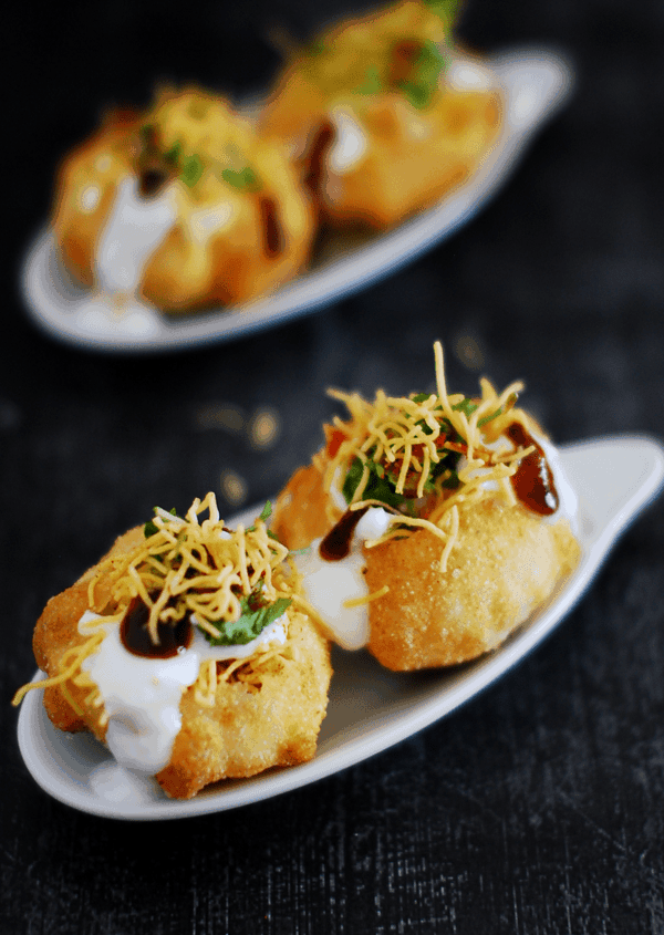 Dahi sev batata puri recipe indian street food recipe dahi puri with sev and batata indian street food forumfinder Choice Image
