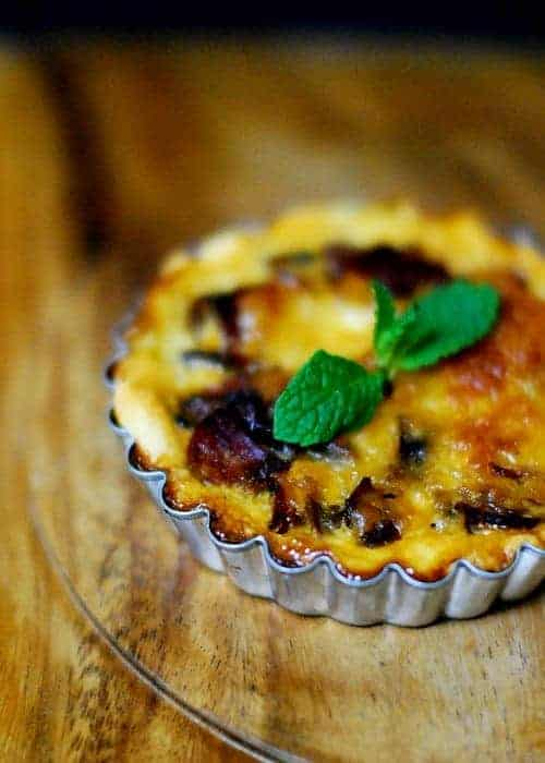 Mushroom and Pepperoni Quiche