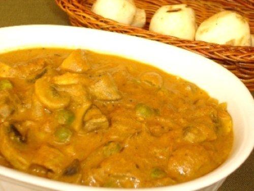 Mushroom Peas Masala Recipe
