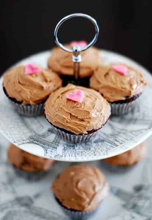 Nutella and Chocolate Cupcake