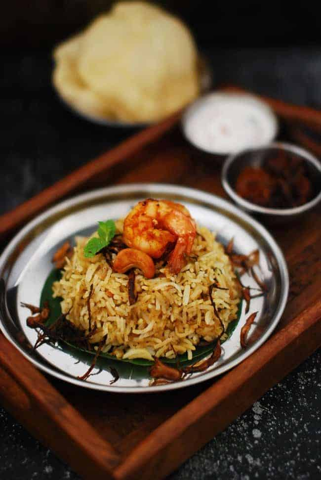 Prawns / Shrimp / Chemeen Biriyani