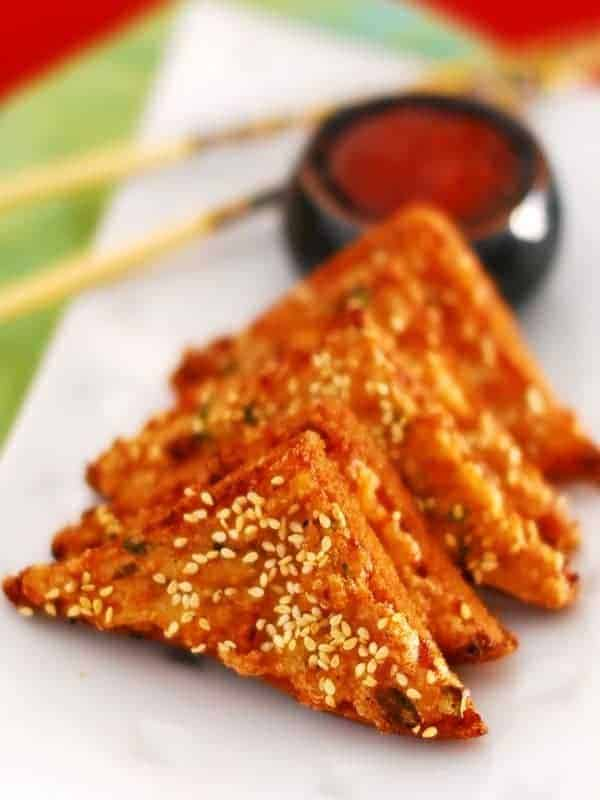 Sesame prawns toast recipe with step by step pictures sesame prawns toast forumfinder Image collections