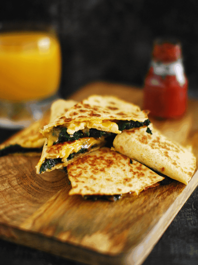 Spinach Mushroom Quesadilla (Recipe With Step By step ...