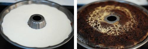 Step 6 - chocoflan cake
