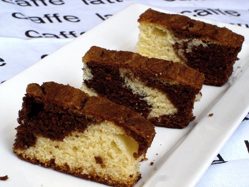Recipe for a small marble cake